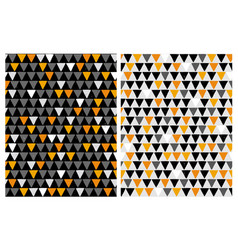 hand drawn bastract triangles patterns vector image