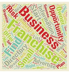 How to Find a Great Franchise Directory text vector