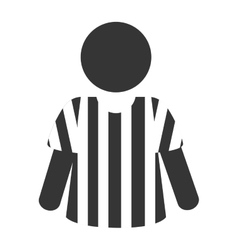 icon referee football american vector image