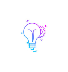 idea icon design vector image