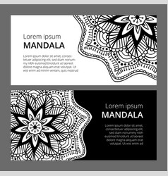 Indian floral paisley medallion banners ethnic vector