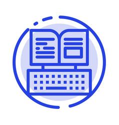 Key keyboard book facebook blue dotted line line vector