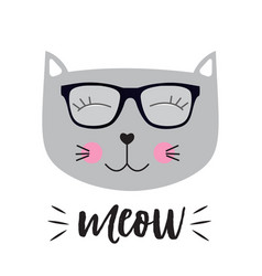 little cute cat vector image