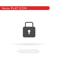 lock icon for web business finance and vector image