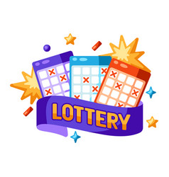 lottery and bingo concept for online vector image