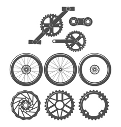 Mountain bike badges logo and labels vector