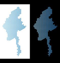Myanmar map hex tile abstraction vector