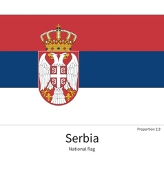 National flag of serbia with correct proportions vector