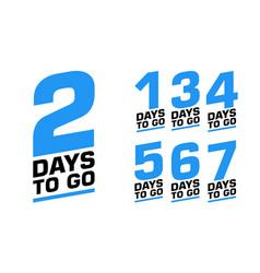 Number days left set emblems vector