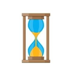 Old style hourglass clocks with sand vector image