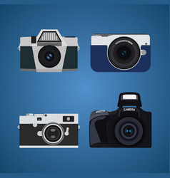 photo camera set vector image
