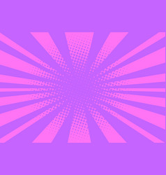 pink pop art background vector image