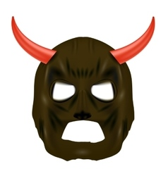 Red Horn Mask on White Background vector