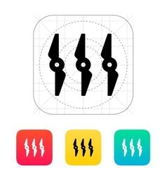 Rotors icon vector