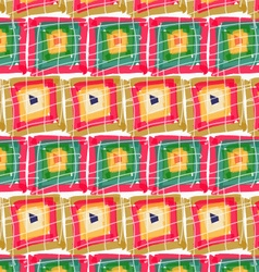 Rough brush green red pink squares in row vector image