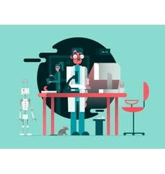 Scientist in lab room vector image