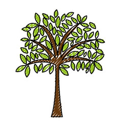 Scribble tree cartoon vector