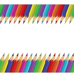 Seamless background of colorful pencils vector image