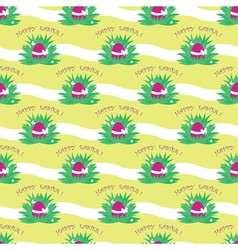 seamless easter egg pattern vector image