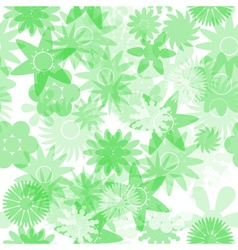 Seamless green water colours simple floral pattern vector
