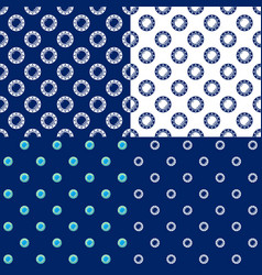 Seamless marine pattern with porthole vector