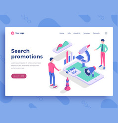 search promotions concept office people and vector image