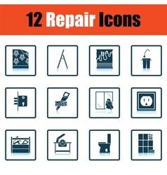 Set of repair icons vector image