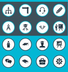 Set simple seminar icons vector