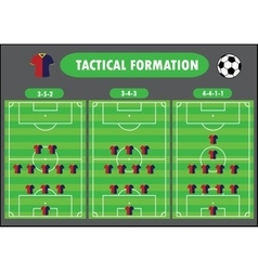 Soccer team formation vector image