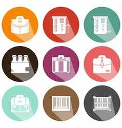 Solid icons shadow market vector image