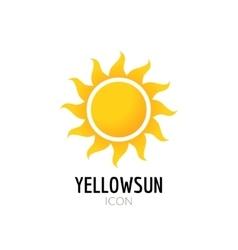 Sun icon sign Icon or logo design with yellow sun vector image
