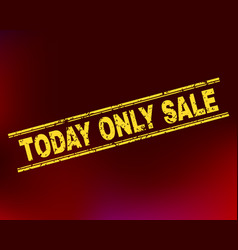 today only sale scratched stamp seal on gradient vector image
