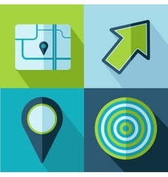 travel set icons vector image vector image