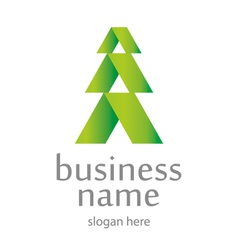 Tree conceptual logo vector