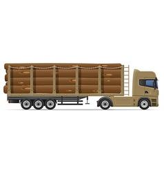 truck semi trailer concept 09 vector image