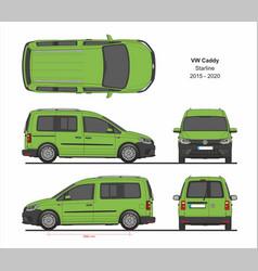 vw caddy starline passenger van 2015-present vector image
