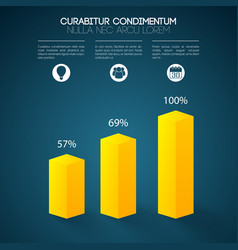 Web chart infographics vector