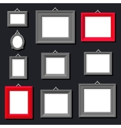 White Paper Frame Photo Picture Art Painting vector