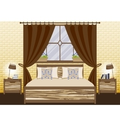 With bedroom in flat style vector