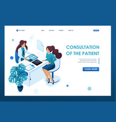 young woman doctor advises patien health care vector image