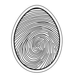 Fingerprint image of a finger vector