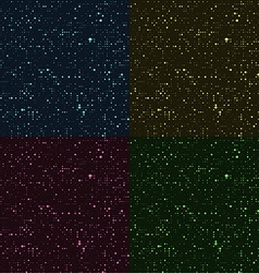 Glossy halftone rounds Stylized stars in the night vector image