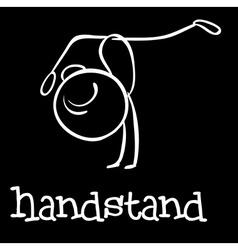 Handstand vector image vector image