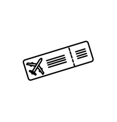 plane ticket icon vector image vector image