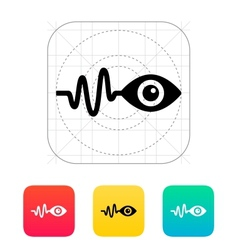 Pulse observation icon vector image