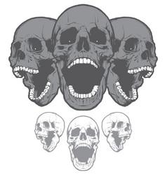 screaming skulls vector image vector image