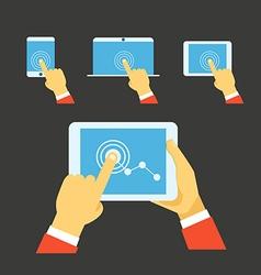 Using modern digital gadgets vector image vector image