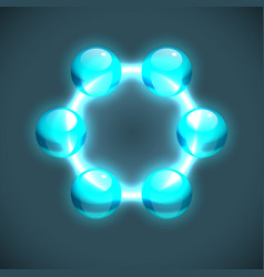 Abstract molecule chemistry template vector