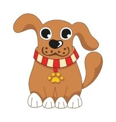 Cartoon puppy of cute dog vector image vector image