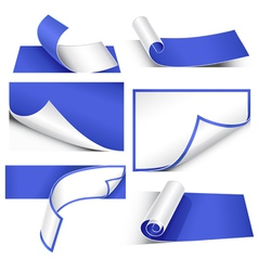 collection of papers vector image vector image
